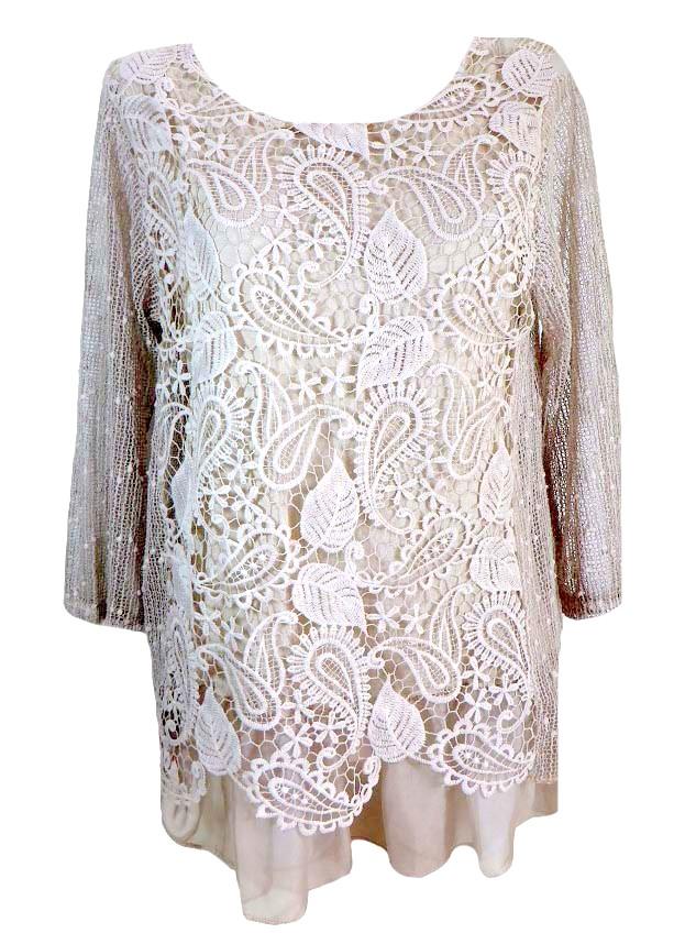Дантелена блуза Мария